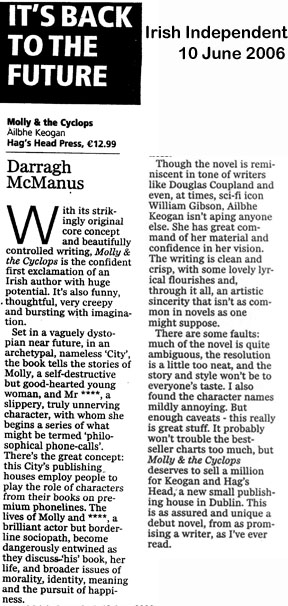 Review of Molly & the Cyclops - Irish Independent